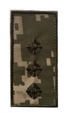 Погон на липучці камуфляж ММ14 Старший лейтенант Погони ЗСУ Нового Зразка
