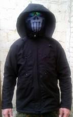 Куртка с капюшоном черная