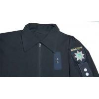 Поло Полиция с нашивками для шевронов и погонов. На молнии