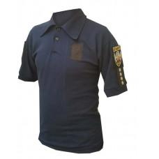 Поло Полиция-Патруль темно-синее с нашивками для шевронов и погонов Сезонний Розпродаж