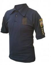 Поло Полиция-Патруль темно-синее с нашивками для шевронов и погонов АКЦИЯ 30%