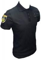 Поло Полиция с нашивками и люверсами для жетона. На кнопках