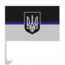 Купить ThinBlueLineUkraine флажок на авто с креплением в интернет-магазине Каптерка в Киеве и Украине
