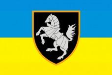 Прапор 1 Окрема Танкова Сіверська Бригада ЗСУ Варіант прапору з новим знаком бригади