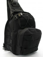 Купить Рюкзак - сумка на плече Silver Knight BLACK АКЦІЯ в интернет-магазине Каптерка в Киеве и Украине