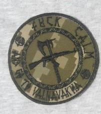 Шеврон Fuck Calm And Go To Valnavakha (піксель)
