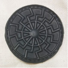 PVC патч Черное Солнце черный