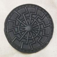 Нашивка Черное Солнце PVC черная