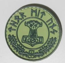 Thor Mit Uns Резиновый шеврон зеленый