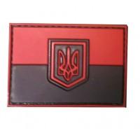 Патч флаг Украины резиновый 70х50мм красно-черный