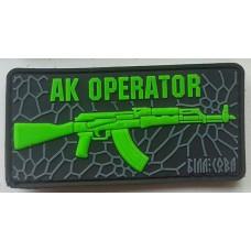 PVC патч AK OPERATOR (чорний-люмінісцентний)