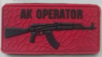 PVC патч AK OPERATOR (красно-черный)