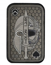 Купить Шеврон Molon Labe Олива (вишивка) в интернет-магазине Каптерка в Киеве и Украине