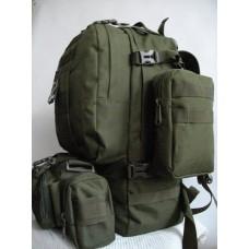 50л рюкзак с подсумками и сумкой в комплекте Silver Knight Олива