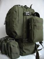 50л рюкзак з підсумками та сумкою в комплекті Олива