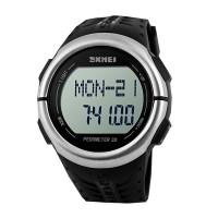 Часы спортивные Skmei 1058 PEDOMETЕR 3D с шагомером и пульсометром Черные
