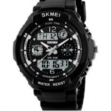 Часы S-Shock Skmei 0931B- два независимых циферблата черные