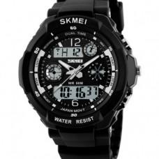 Купить Часы S-Shock Skmei 0931B- два независимых циферблата черные в интернет-магазине Каптерка в Киеве и Украине