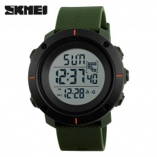 Часы SKMEI 1213 Casual Men Silicone Strap Watch Water Resistant 50m - Army Green