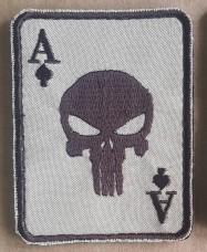 Купить Шеврон карта Туз Punisher Койот в интернет-магазине Каптерка в Киеве и Украине
