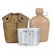 Купить Mil-Tec фляга 1л тип США с подфляжником и чехлом. Койот в интернет-магазине Каптерка в Киеве и Украине