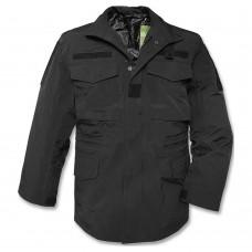 Куртка М65 MIL-TEC черная с мембраной. Дождевик