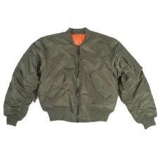 Куртка пилот МА1 MIL-TEC олива.