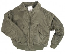 Куртка пилот CWU  MIL-TEC олива.