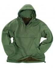 Куртка штормовка Анорак MIL-TEC COMBAT на флисе. Олива