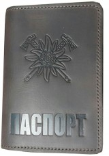 Купить Обкладинка на Паспорт Едельвейс - гірські бригади ЗСУ (коричнева) в интернет-магазине Каптерка в Киеве и Украине