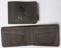 Шкіряний гаманець-кардхолдер НГУ (коричневий) Спеціальна ціна