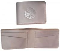 Шкіряний гаманець-кардхолдер з символикою Артилерія ЗСУ (коричн)