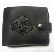 Шкіряний гаманець з символикою ССО України Колір чорний