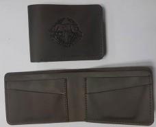Шкіряний гаманець з емблемою ССО України. Brown Спеціальна ціна