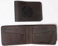 Шкіряний гаманець-кардхолдер ЗСУ (коричневий) Спеціальна ціна!