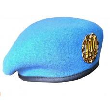 Бесшовный берет ВДВ - голубой берет в комплекте с кокардой