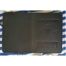 Обкладинка Паспорт з тисненням ВДВ коричнева (темний)