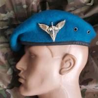Берет ВДВ бесшовный - капля, синий