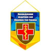 Вимпел Командування Медичних сил Збройних Сил України з новим знаком