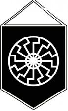 Купить Вымпел Чёрное Солнце в интернет-магазине Каптерка в Киеве и Украине