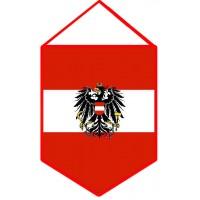 Вимпел прапор Австрії з гербом