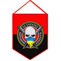 Вимпел НАРОДЖЕНІ ВБИВАТИ ЗА УКРАЇНУ (червоно-чорний)