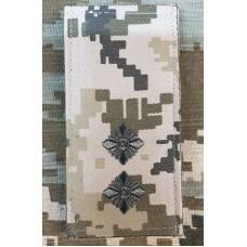 Погон лейтенант ЗСУ ММ14 Згідно Наказу 606 без обшивки