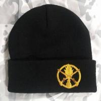 Шапка з вишивкою Піхота ЗСУ чорна