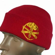 Шапка з вишивкою Артилерія ЗСУ червона