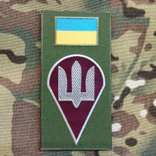 Нарукавна заглушка Десантно Штурмові Війська України (Олива кольоровий)