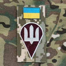 Нарукавна заглушка Десантно Штурмові Війська України (піксель)