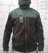 Флиска олива 4 кармана, накладки, липучки для шевронов и погона АКЦИЯ 20%