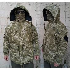 Зимняя куртка на флисе камуфляж ММ14