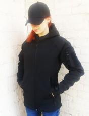 Куртка софтшел Чорна Спеціальна ціна! Unisex Чоловічі й жіночі розміри!